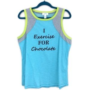 Just Be Graphic I Exercise For Chocolate Tank Top